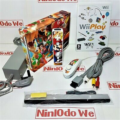 Nintendo Wii console +Custom Vinyl wrap +Remote+Wii Play(9 games) +Year Warranty