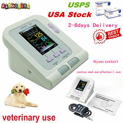 Fda Vet Veterinary Oled Digital Blood Pressureheart Beat Monitor Nibp Contec08a