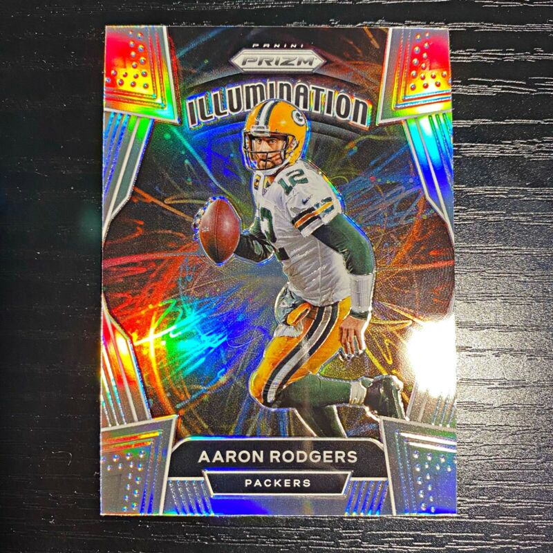 Aaron Rodgers 2020 Panini Prizm Illumination Case Hit SSP Green Bay Packers RARE