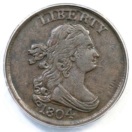 1804 C-8 ANACS VF 30 Draped Bust Half Cent Coin 1/2c