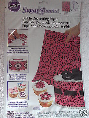Wilton Sugar Sheet Scrolls cake & Cupcakes Decorating New