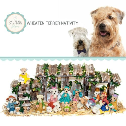 SAVANNASHOPS Dog Nativity Wheaten Terrier Gifts - Nativity Sets - Dog Lover Gift
