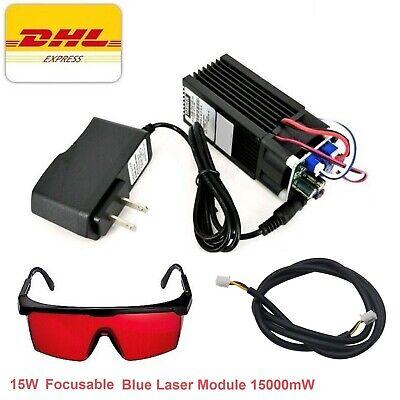 450nm Blue Laser Module 15w Cutter Engraver Cnc Diy Lazer Full Kit With Heatsink
