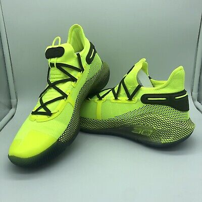 Men's Under Armour UA Curry 6 'Coy Fish' Neon Basketball Shoes 3020612-302...