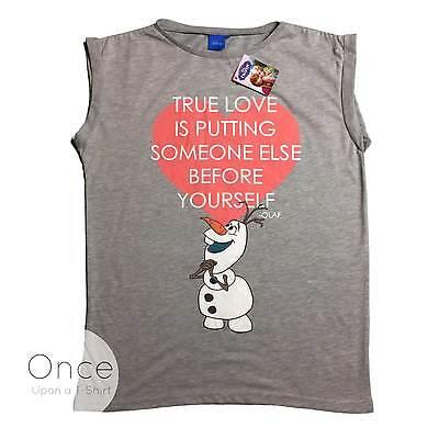 ney Frozen Olaf True Love Spruch T-Shirt Primark (Disney Frozen Erwachsenen)