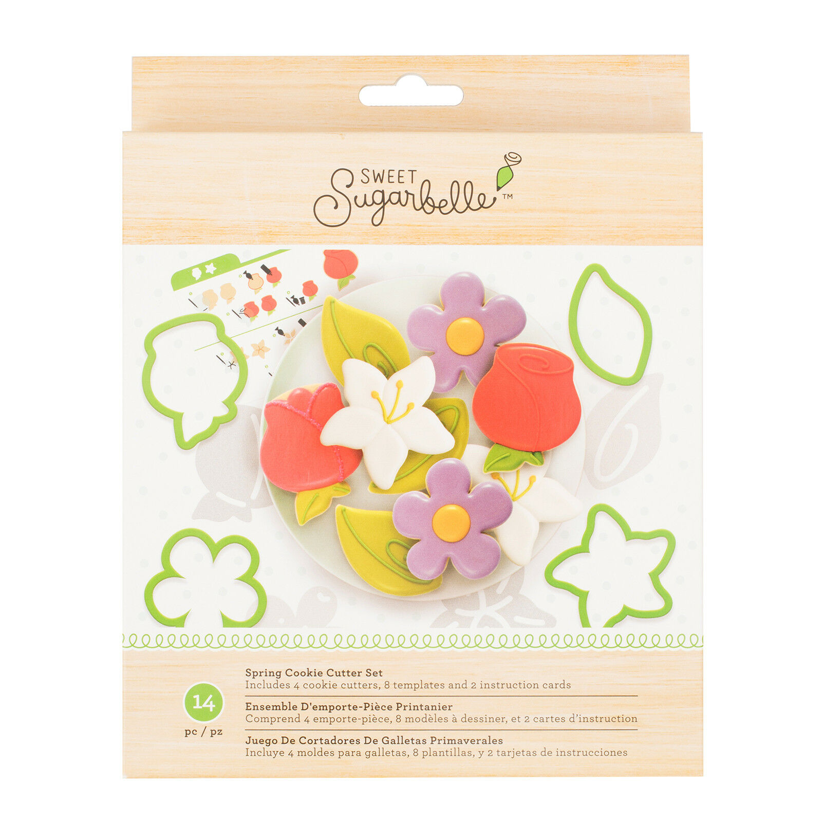 American Crafts Sweet Sugarbelle Summer Cookie Cutters Template Set 14 Pieces