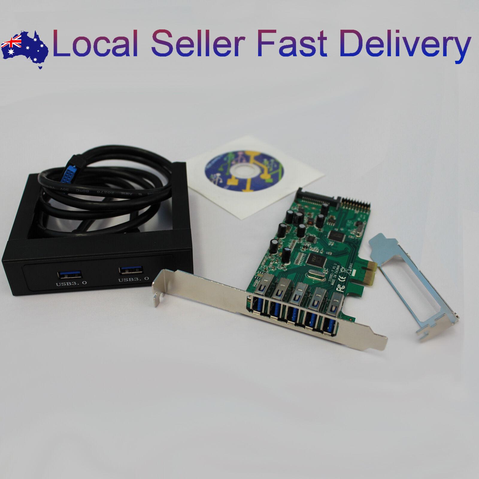 Details about PCIE PCI-E Express USB 3 0 7 Port Card 3 5