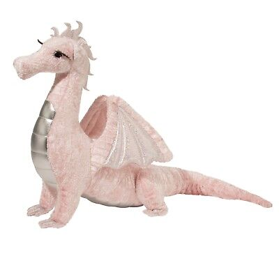 Shreya Pink Dragon 11 inch Standing Realistic Plush Stuffed Animal Toy D715