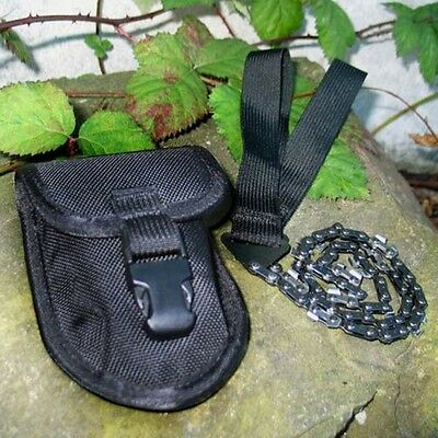 Ultimate Survival SABERCUT SAW Pocket Portable Chain Saw w/ Sheath Camping Gear