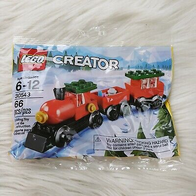 2018 Lego Creator Christmas Train66 pc polybag. 30543 New Sealed. Bundle of 2
