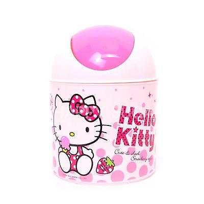 Hello Kitty Small Dustbin Cute Character Wastebasket Garbage Trash bin