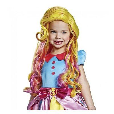 Child Girls Nick Junior Stylist Sunny Day Halloween Costume Pink Blonde Wavy - Nick New Girl Halloween Costume