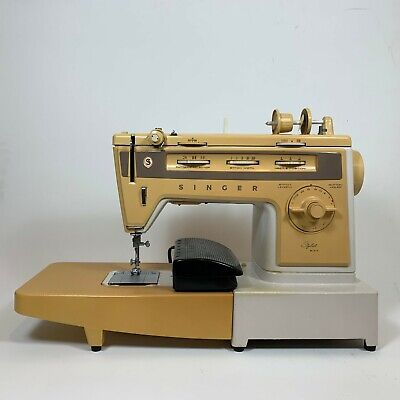 SINGER Vintage Stylist 834 Zig-Zag Free Arm Sewing Machine w/Foot Pedal WORKS!