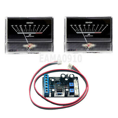 2x Tn90 Denon Vu Meter Db Level Header Audio Power Amp Backlight W Driver Board