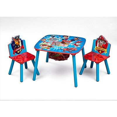Paw Patrol Table Chair Set Kids Toddler Activity Wooden Play Room Gift New  - Wooden Play Table