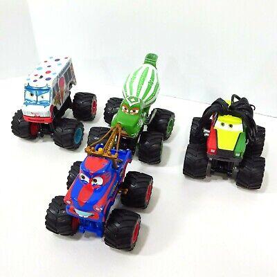LOT 4 Disney Pixar Cars Monster Trucks Rasta Mater I-Screamer Tormentor Toon