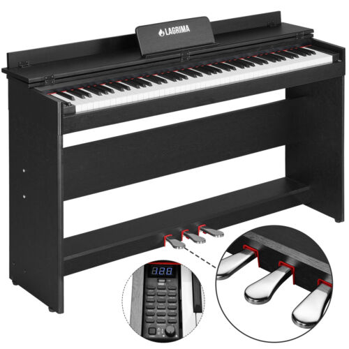 Digital 88 Key Electric LCD Piano Keyboard w/ Stand+Adapter+