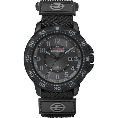 Timex Men's Expedition | Rugged Black Dial, Case & Nylon Fastwrap | Watch T49997