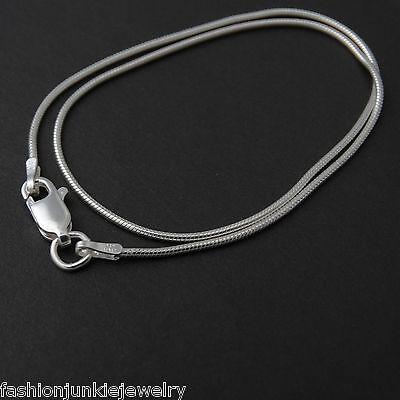 Snake Sterling Anklet - Snake Chain Anklet - 925 Sterling Silver - 1mm Round Anklet 9