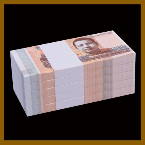Cambodia 100 Riels x 500 Pcs Bundle (1/2 Brick), 2014 (2015) P-65 Buddha Unc