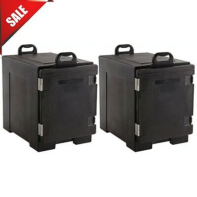 2 Pack Insulated Full Food Pan Carrier Box Catering Chafing Dish Hot Cold Warmer
