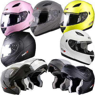 Tuzo Horizon Flip Up Front Modular Motorcycle Motorbike Crash Helmet