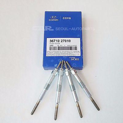 HYUNDAI KIA  Genuine Glow Plugs 4Pcs= 1Set  36710-27010