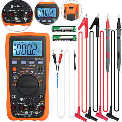 Lcd Digital Multimeter Ammeter Ac Dc Voltage Ohmmeter Tester Meter Auto Range