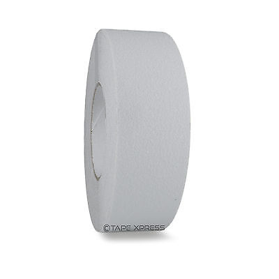 2 X 60 White Non Skid Adhesive Tape - 60 Grit - Grip Anti Slip Traction Safety