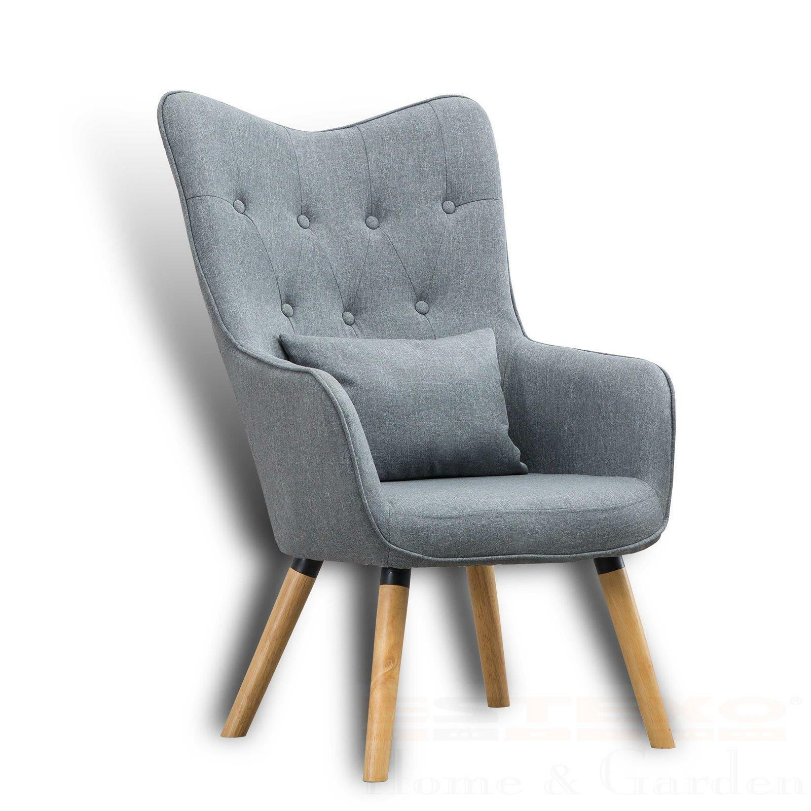 Fernsehsessel mit Kissen Relax TV Sessel Wohnzimmersessel Stoffbezug
