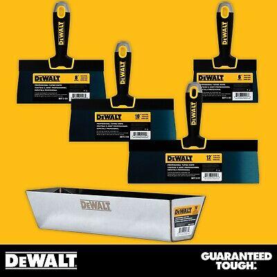 Dewalt Taping Knife Set Premium Blue Steel 6-8-10-12 W 16 Heli-arc Mud Pan