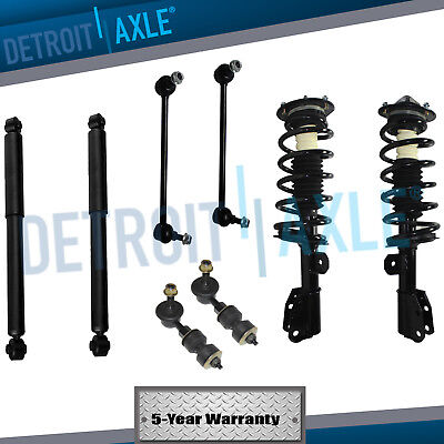 All 8 Front  Rear Complete Struts  Shocks  Front  Rear Sway Bar End Links