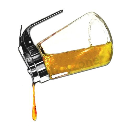 8oz Glass Bottle Jar Dispenser with Retracting Cover for Honey Pancake Syrup...
