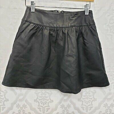 American Eagle Black Faux Leather/Polyurethane Mini Skirt Size 2 Machine Wash! for sale  Shipping to Nigeria