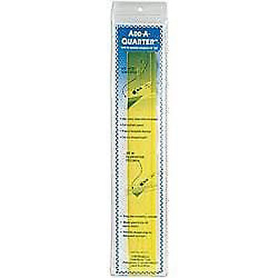 """Add-A-Quarter Ruler-12"""" Yellow Great For Patchwork And Quilting! [EQS- AQ12]"""