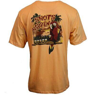 JOE MARLIN Mens T Shirt S M L XL XXL Funny Graphic SHOTS HAPPEN Hawaiian Tee NWT