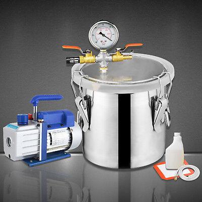 3 Gallon Vacuum Chamber 4 Cfm Single Stage Pump Degassing Silicone Kit