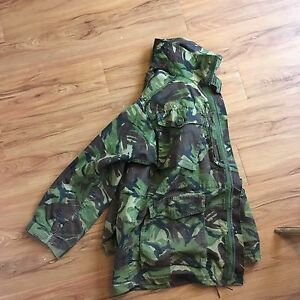 UK DPM cammo field jacket with badges
