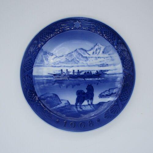 """1968 Royal Copenhagen Denmark Kai Lange """"The Last Umiak"""" Plate"""