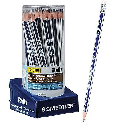 Staedtler Rally #2 HB Pre-Sharpened Pencils, 13218CA72, Tub of 72