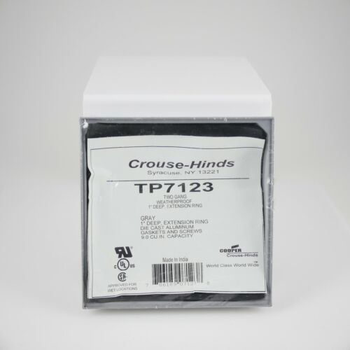 """Crouse-Hinds TP7123 Two Gang Weatherproof 1"""" Deep Extension Ring"""