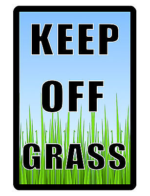 KEEP OFF GRASS Sign LAWN SIGN Aluminum NO RUST..High Quality..GRASS - Lawn Sign