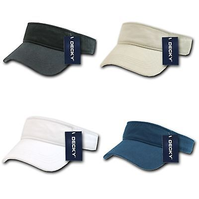 Chino Cotton Twill Visor (Decky Cotton Chino Twill Polo Visor Golf Tennis Sun Caps Hats )
