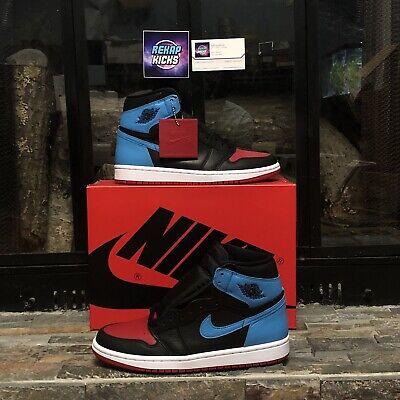 Nike Air Jordan 1 High UNC NC to Chi CHICAGO SIZE W 8.5 M 7 CD0461-046