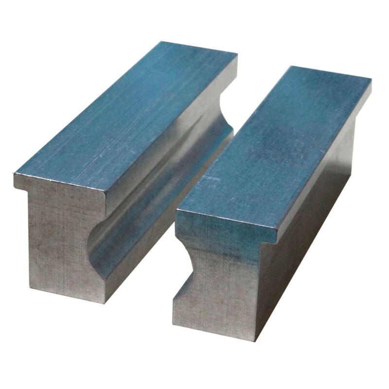 """4"""" Aluminum Barrel Vise Jaw Pads for Rifle  Pistol  Shafts and Round Stock"""