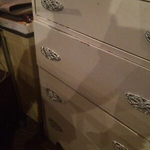 Antique waterfall style chest of drawers