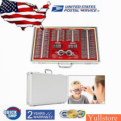 266 Pcs Metal Rim Optical Trial Lens Optometry Kit Test Trial Eyeglass Frame