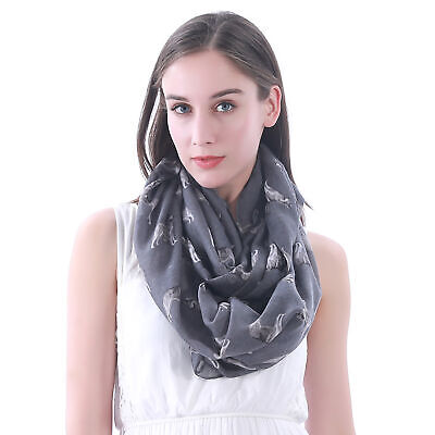 Siberian Husky Dog Print Womens Infinity Loop Scarf Pet Lover Gift Idea for Her ()