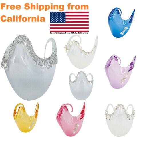 Face Shield Clear Glasses Crystal Transparent Masks Visible Lip Rhinestones mask