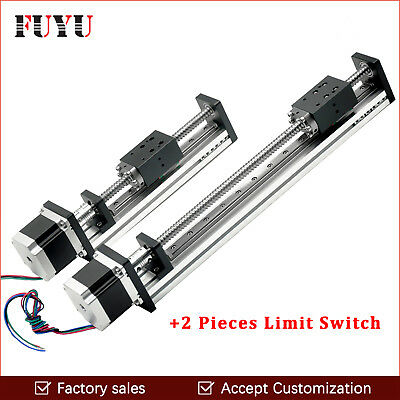 500mm Stroke Ballscrew Cnc Linear Guide Actuator Slide Rail For Printer Parts